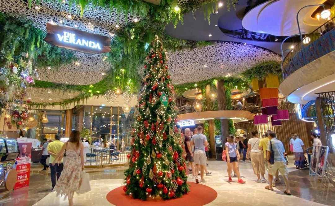 A beautiful Christmas tree inside at ICONSIAM in Bangkok