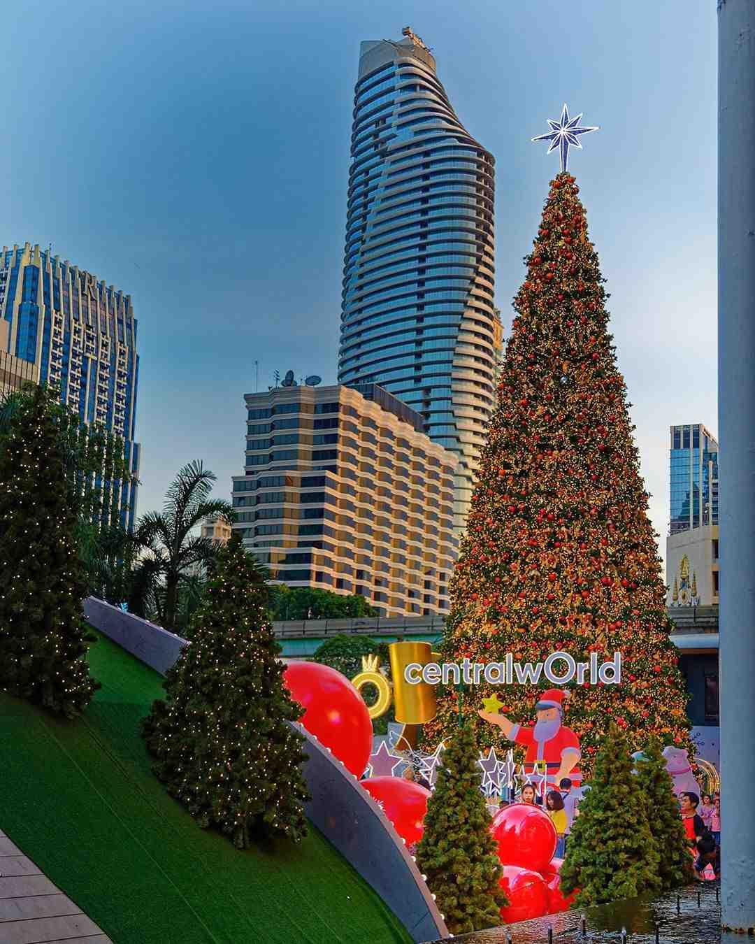 Christmas tree at CentralWorld in Bangkok