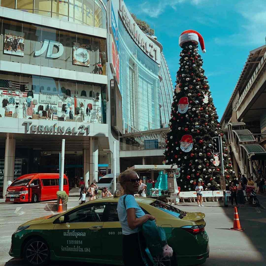 Kerstboom bij Terminal 21 in Bangkok