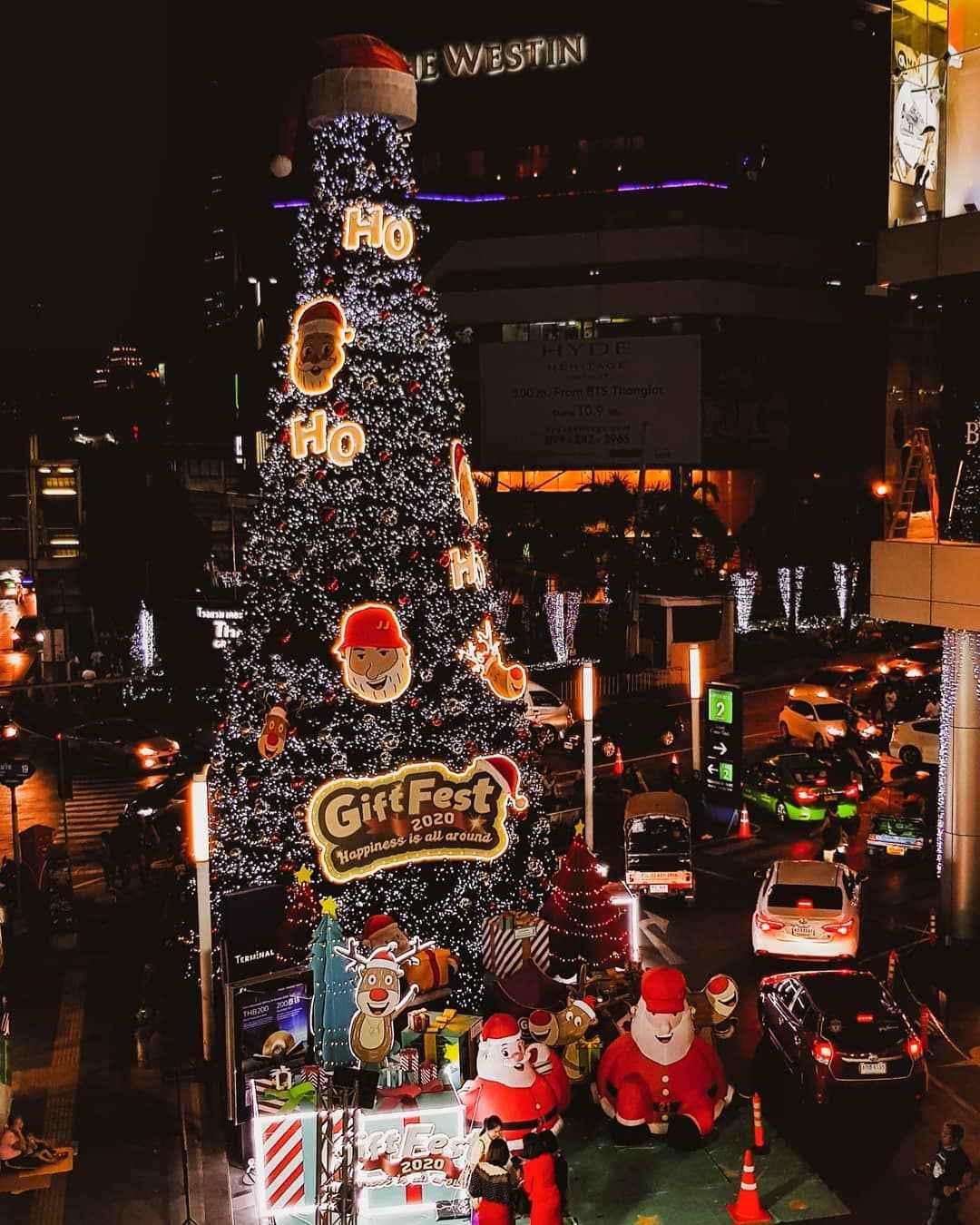 GiftFest Christmas tree at Terminal 21 in Bangkok