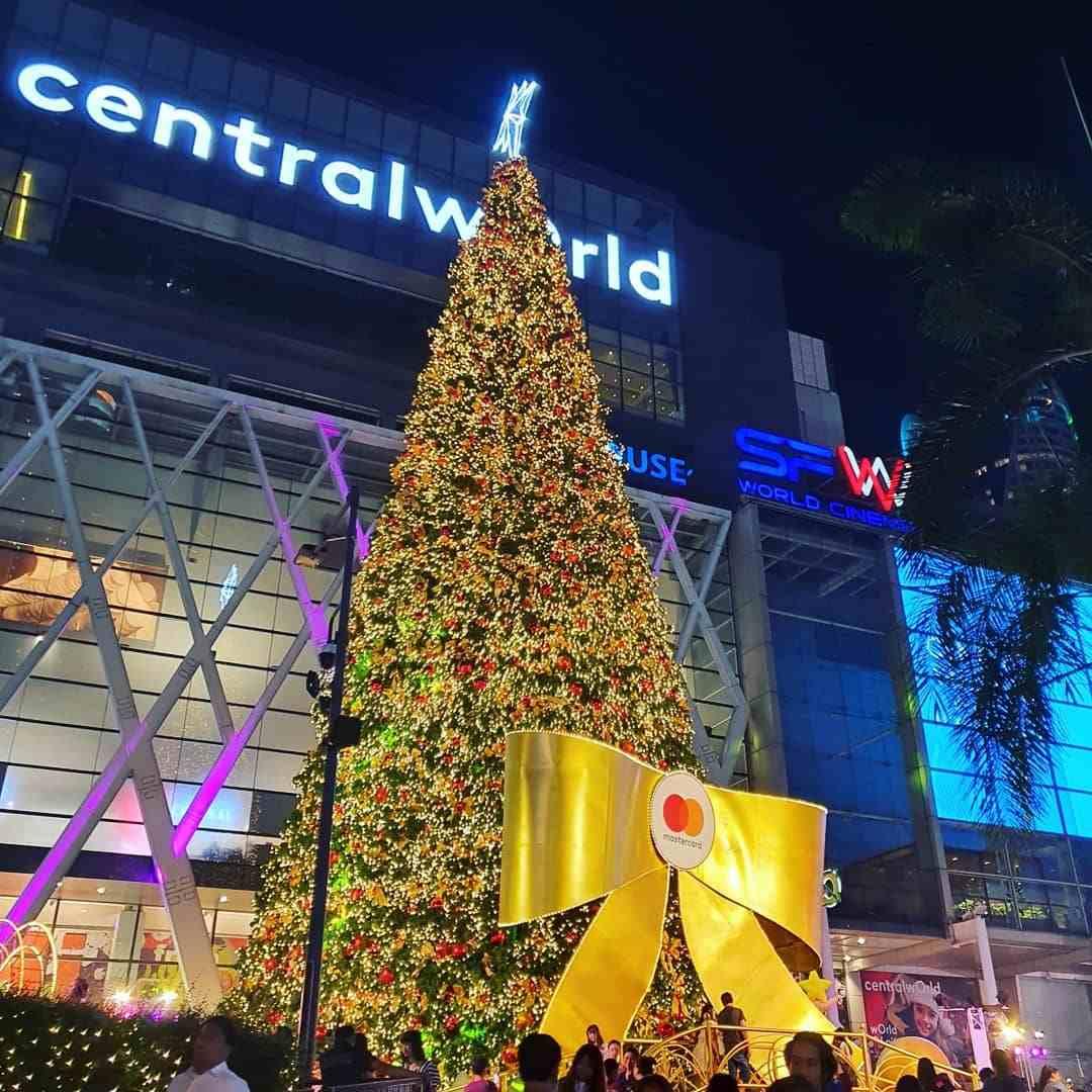 Mega Christmas tree for CentralWorld in Bangkok