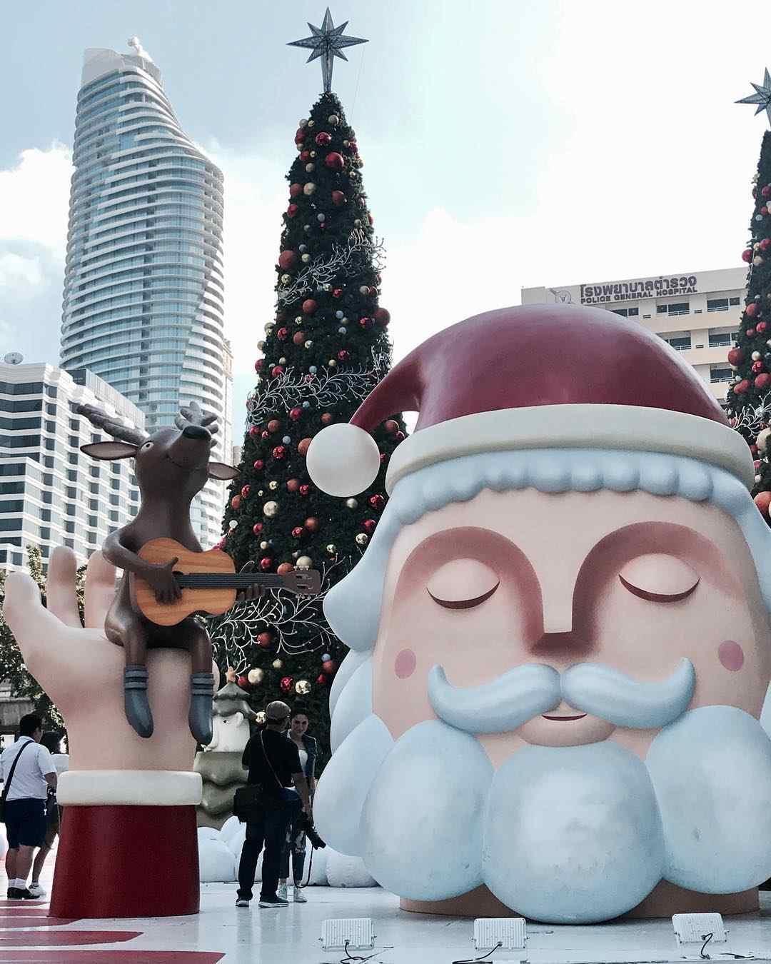 Reuze opblaasbare kerstman