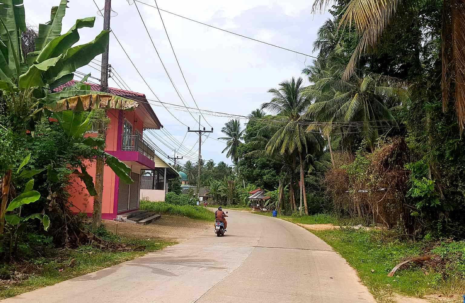 Riding the scooter through Koh Yao Yai