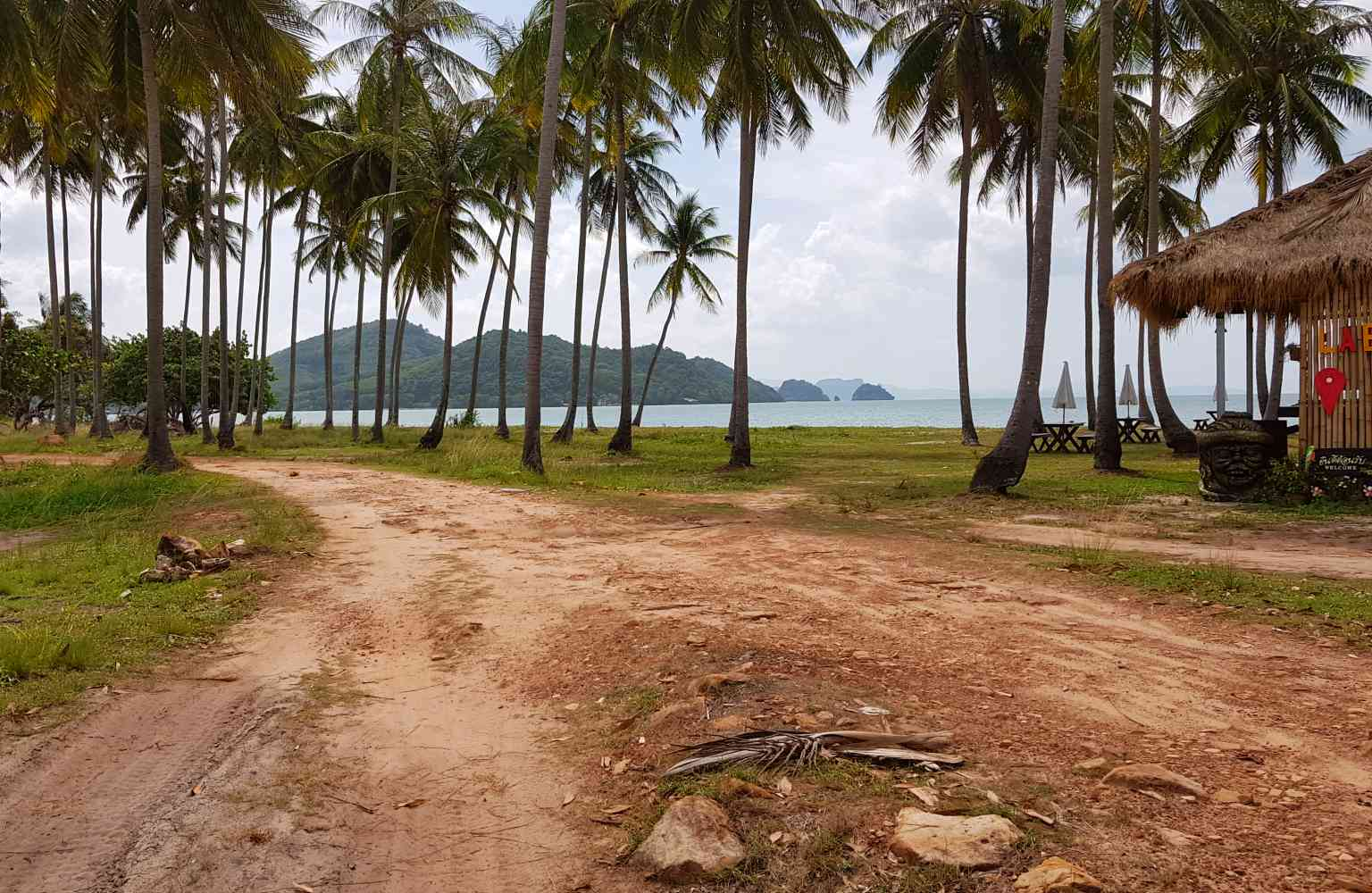 Koh Yao Yai, sand road to sandbank Leam Had