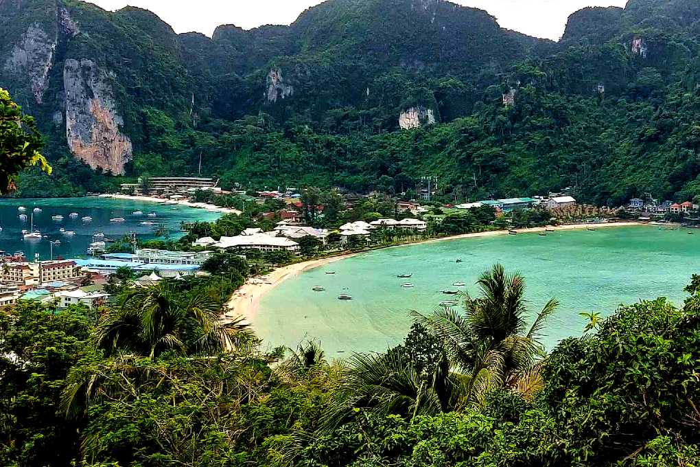 Phi Phi Island as seen from the viewpoint