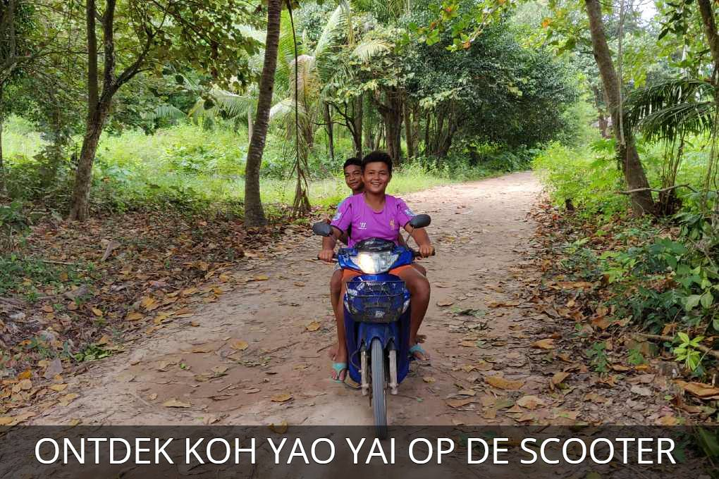 Link to Article discover Koh Yao Yai on the scooter