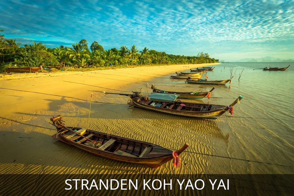Photo with link to everything about the beaches of Koh Yao YaiPhoto with link to everything about the beaches of Koh Yao Yai