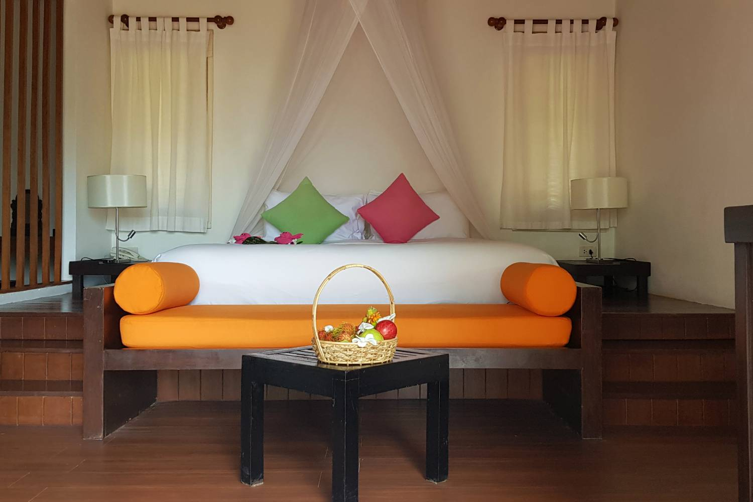 Bedroom of the Deluxe Pool Villa at the GLOW Elixir Resort