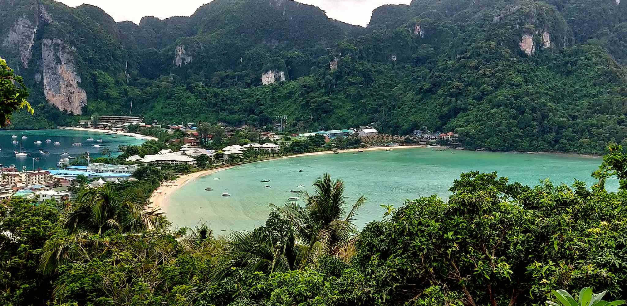 Koh Phi Phi island as seen from the viewpoint