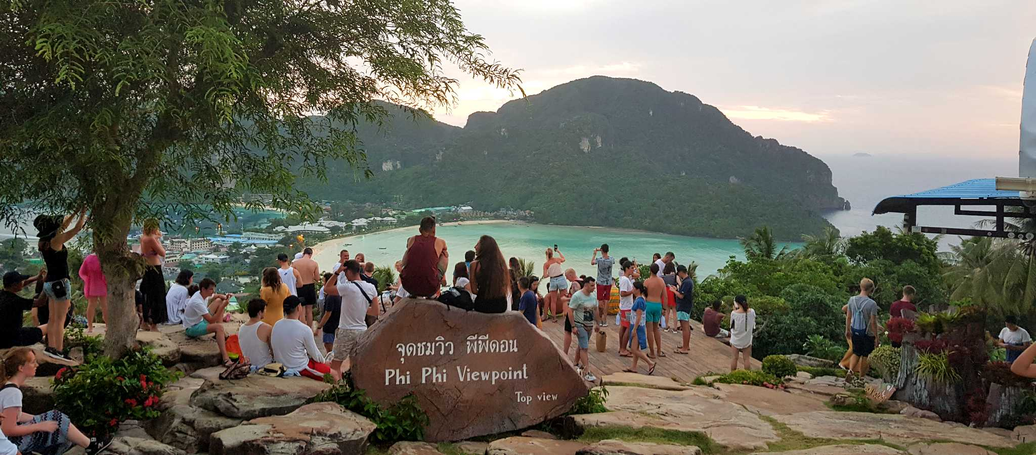 Viewpoint Koh Phi Phi, uitzicht op de 2 baaien