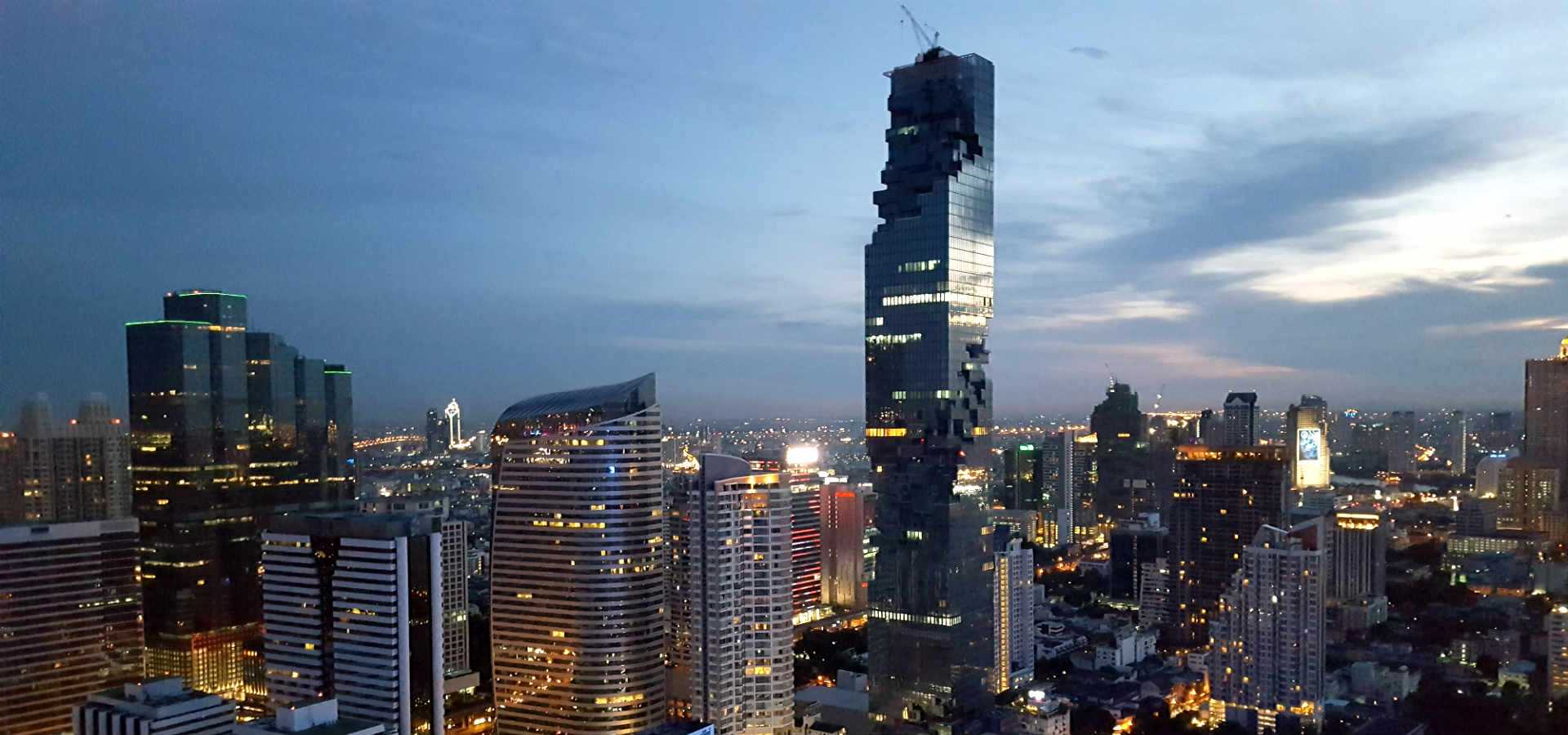 The Mahanakhon building or Pixel Tower in Bangkok