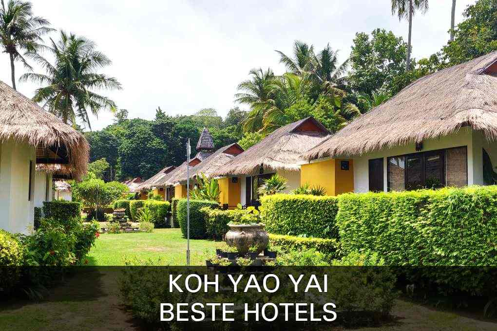 Click here for the best hotels of Koh Yao Yai