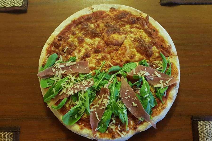 Tasty pizza at Italiano Bar & Restaurant on Koh Phi Phi