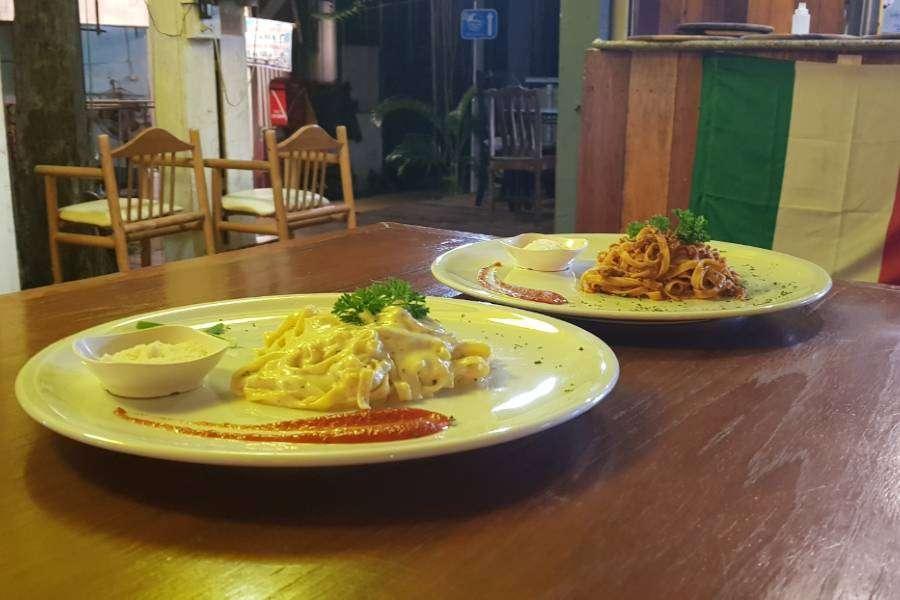 Lekkere pasa bij Italiano Bar & Restaurant op Koh Phi Phi
