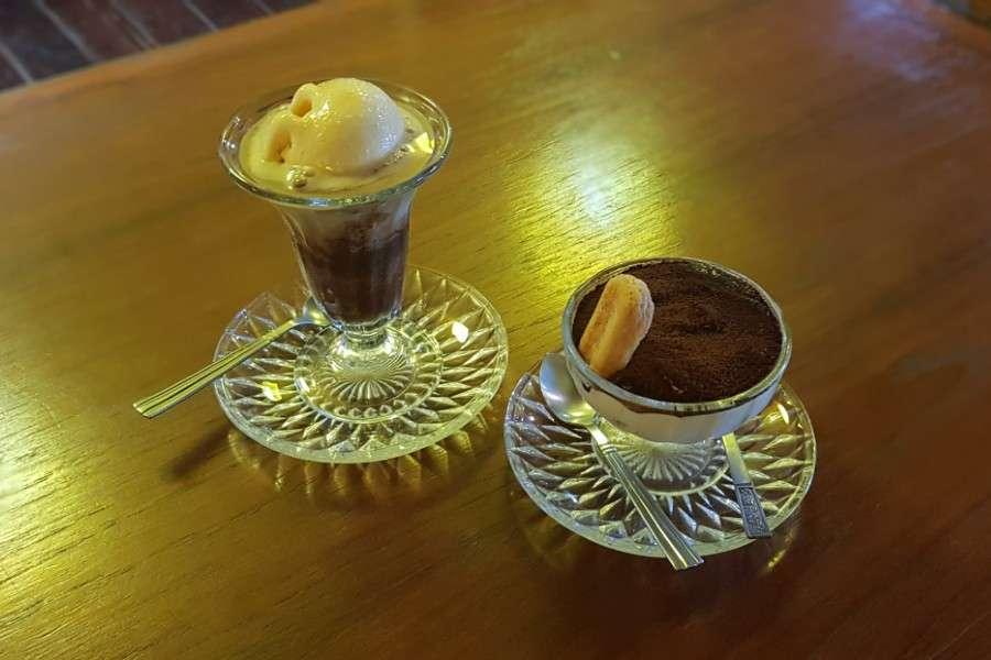 Tasty desserts (ice cream and tiramisu) at Italiano Bar & Restaurant on Koh Phi Phi