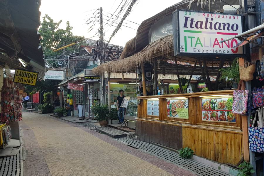 Italiano Bar & Restaurant in the main street of Ton Sai Village on Koh Phi Phi