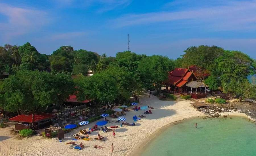 The beach of the Phi Phi Natural Resort on Koh Phi Phi