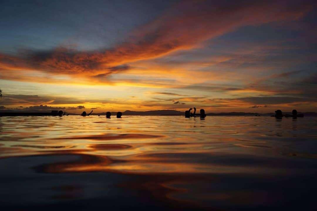 Twilight on Koh Yao Yai seen from the Santhiya Koh Yao Yai Resort & Spa