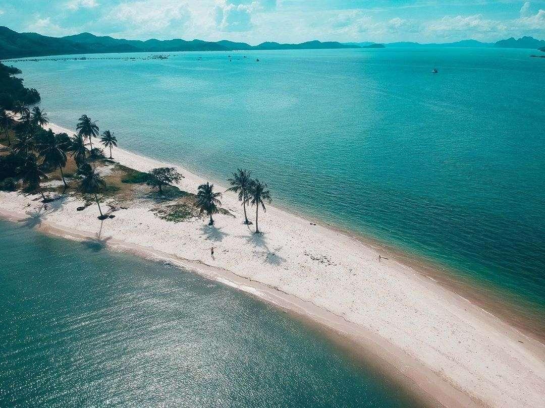 Laem Had Beach on Koh Yao Yai seen from the air