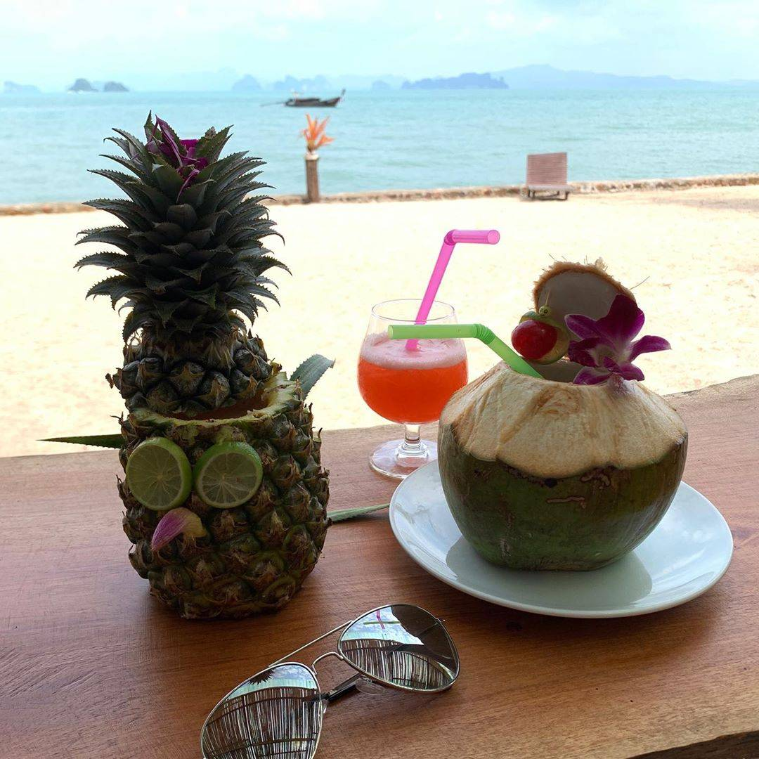 Pineapple and coconut cocktails