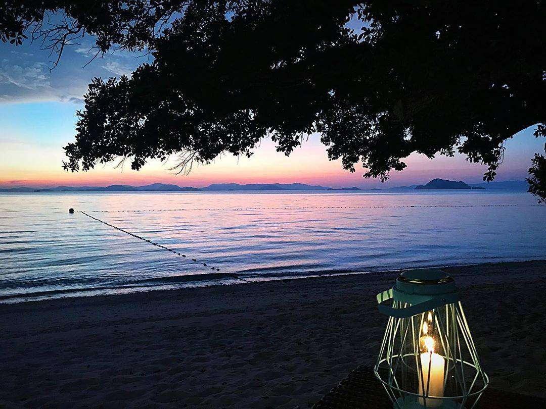 Sunset from a beach on Koh Yao Yai