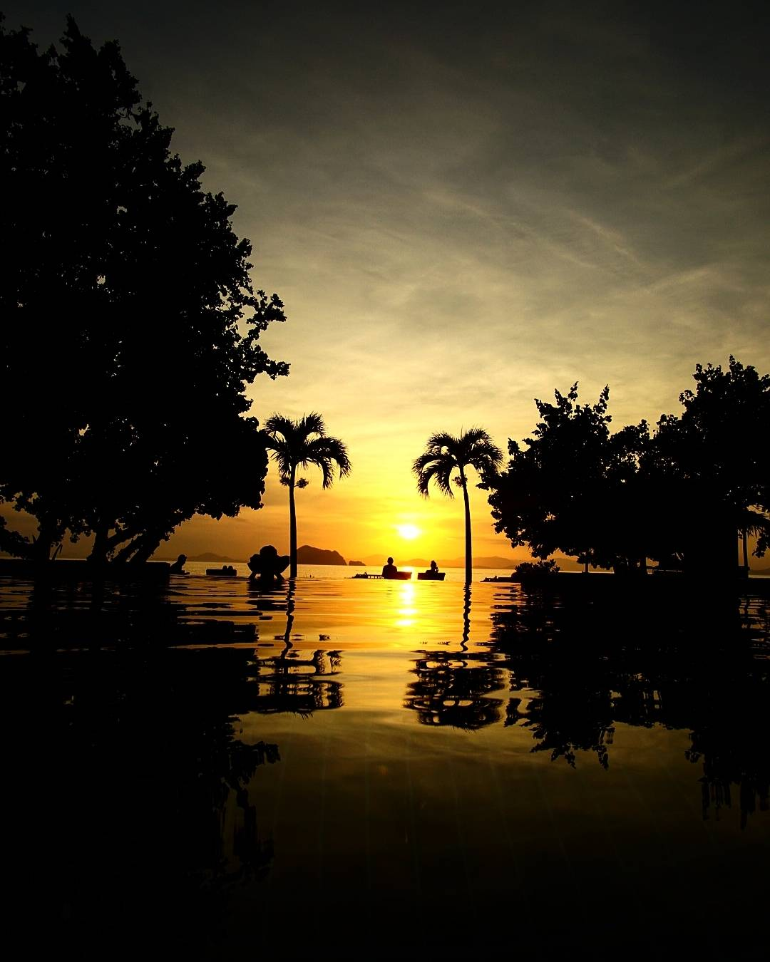 sunset with golden glow on Koh Yao Yai