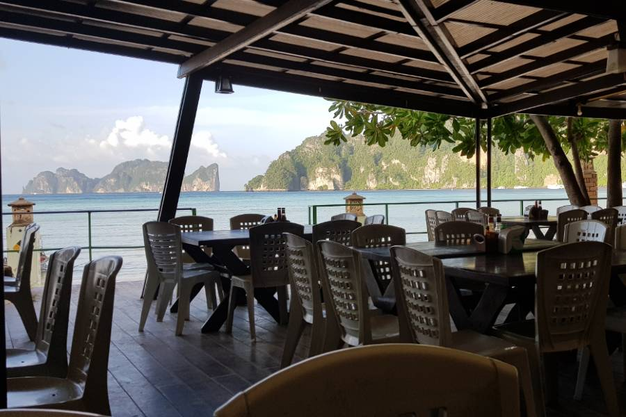 The restaurant of the U Rip Resort on Koh Phi Phi