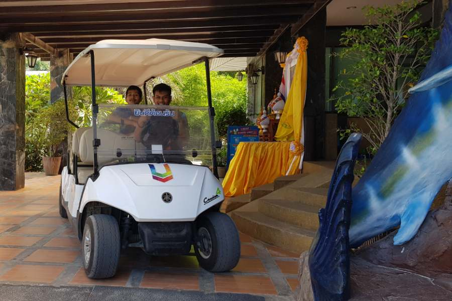An electric cart that takes you to the room of the U Rip Resort on Koh Phi Phi