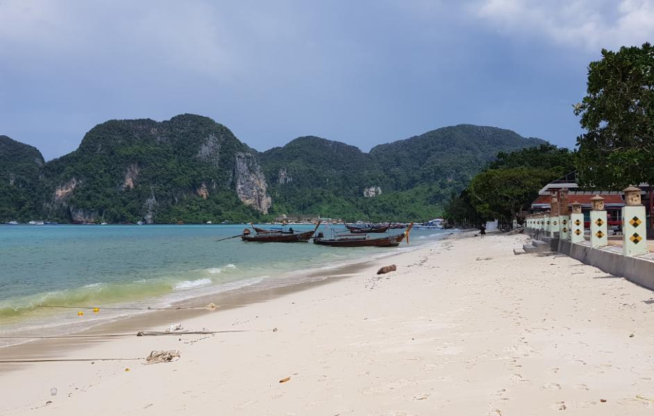 The beach in front of the U Rip Resort on Koh Phi Phi