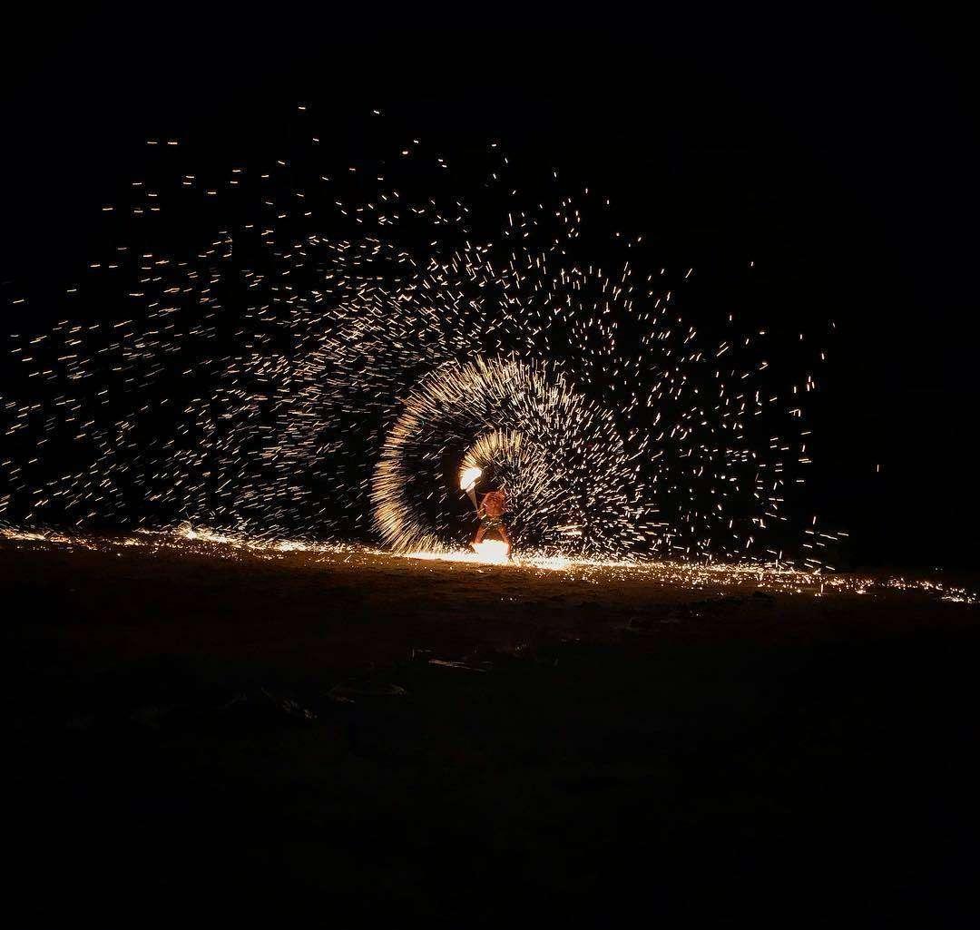 Fireshow op Koh Phi Phi, Thailand