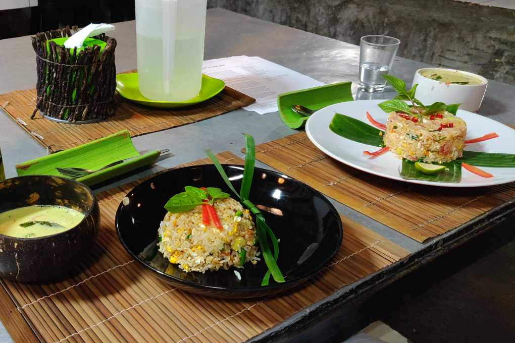 Thai dishes made during cooking class in Koh Thailand