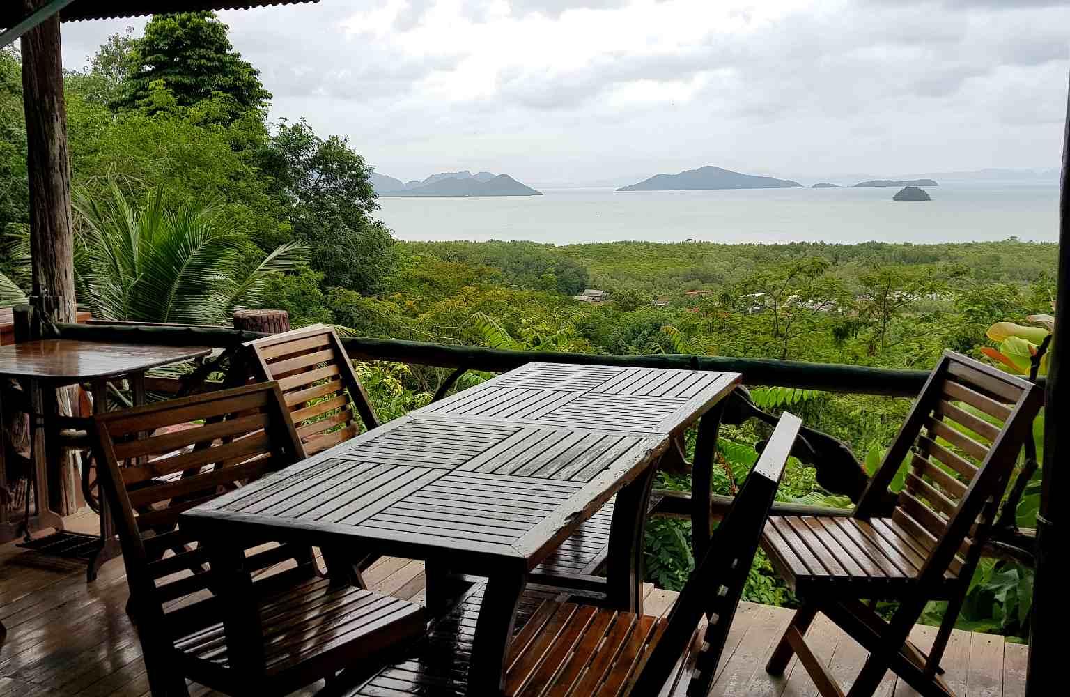 route naar National Park en Restaurant met mooi uitzicht op zee