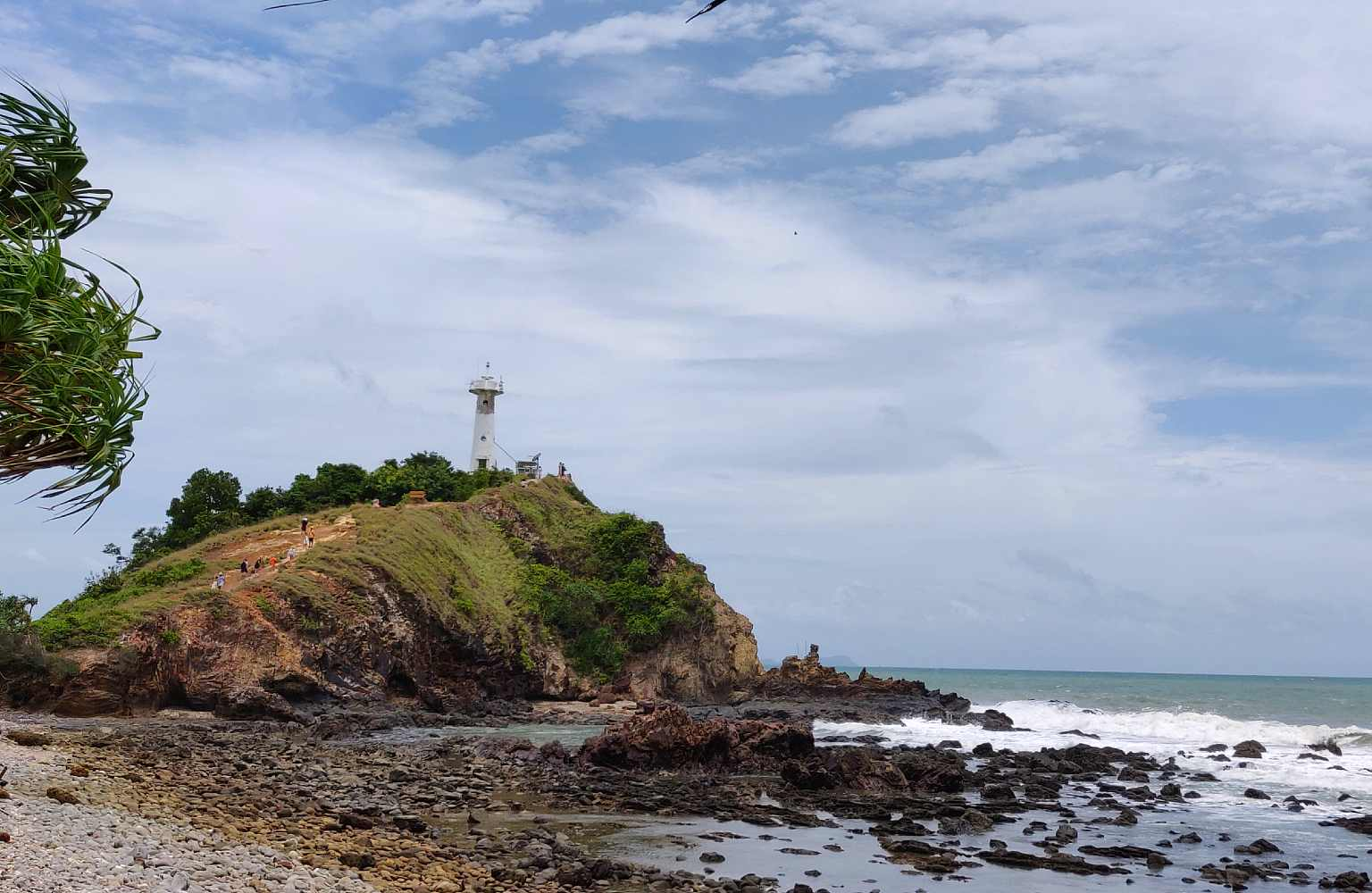 Lighthouse by the sea in Koh lanta National Park