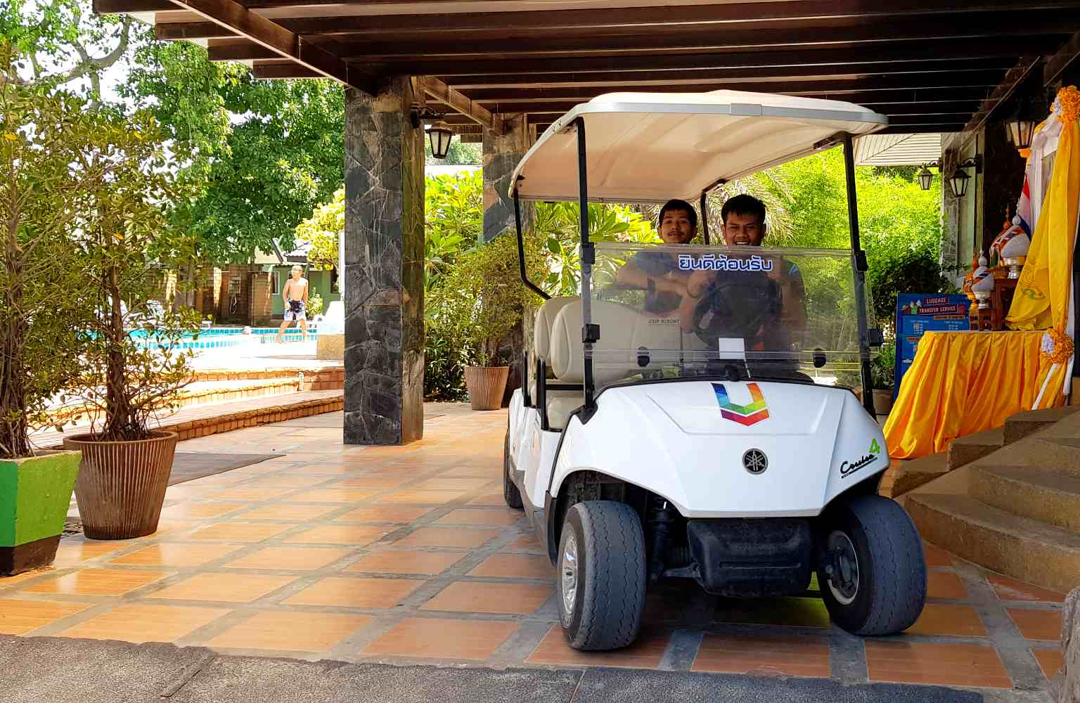 Golf cart from the U Rip Resort