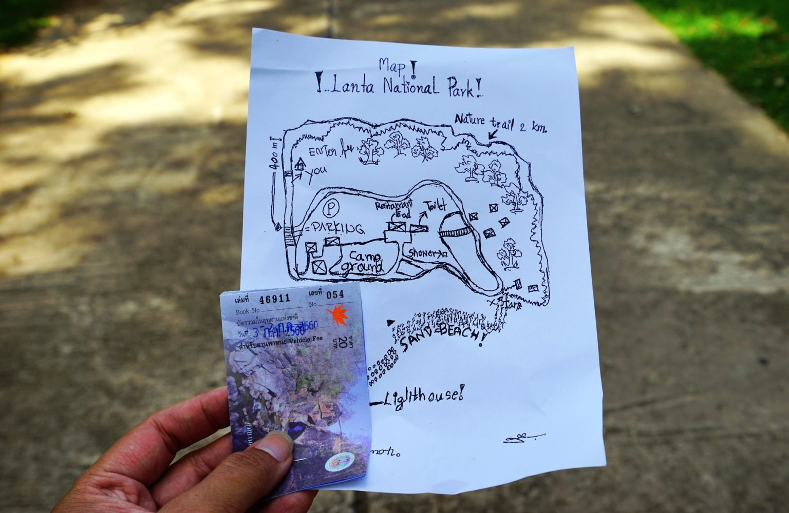 Map of Mu Koh Lanta National Park