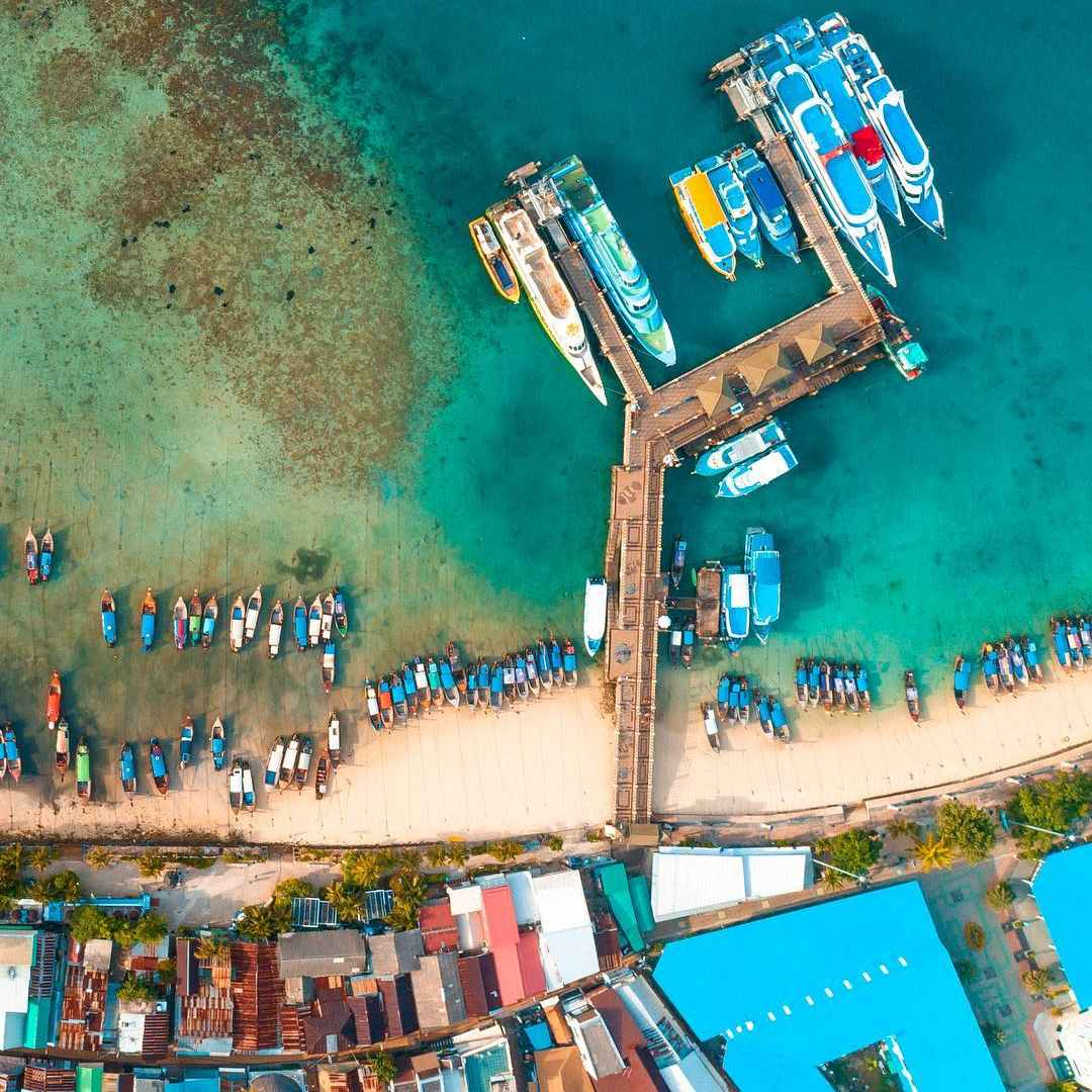 The Ton Sai Pier on Koh Phi Phi