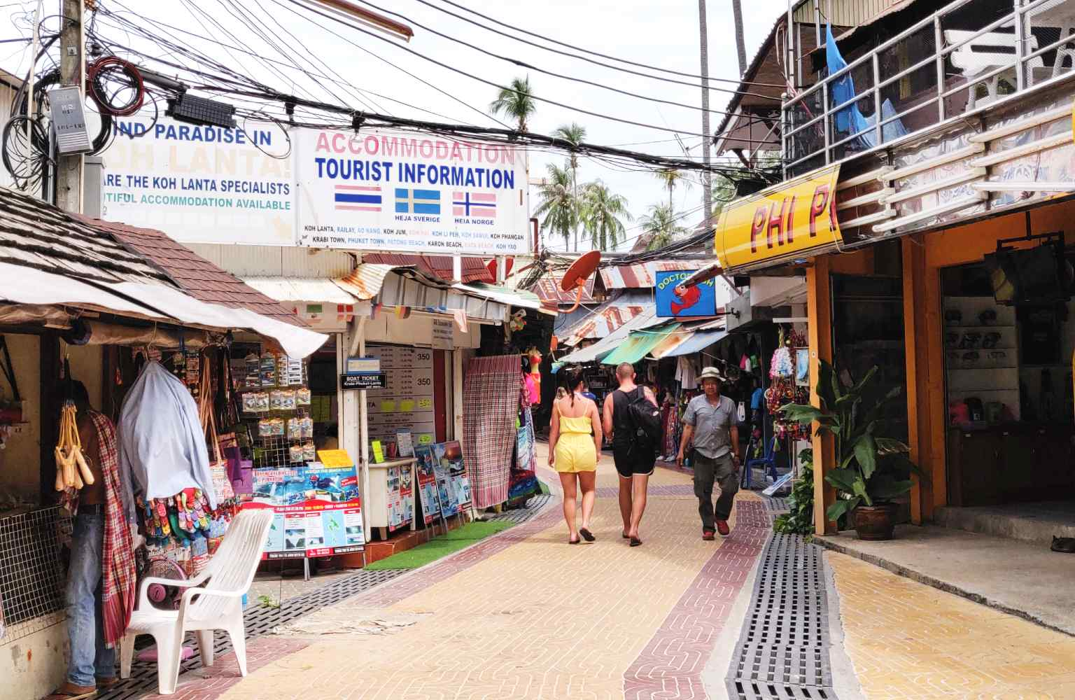 The main street of Ton Sai Village on Koh Phi Phi