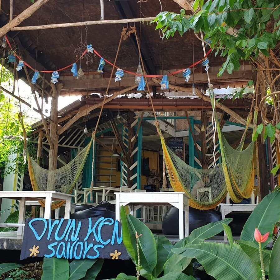 Front of Drunken Sailors in the village of Kantiang on Koh Lanta, one of the best restaurants on koh lanta!