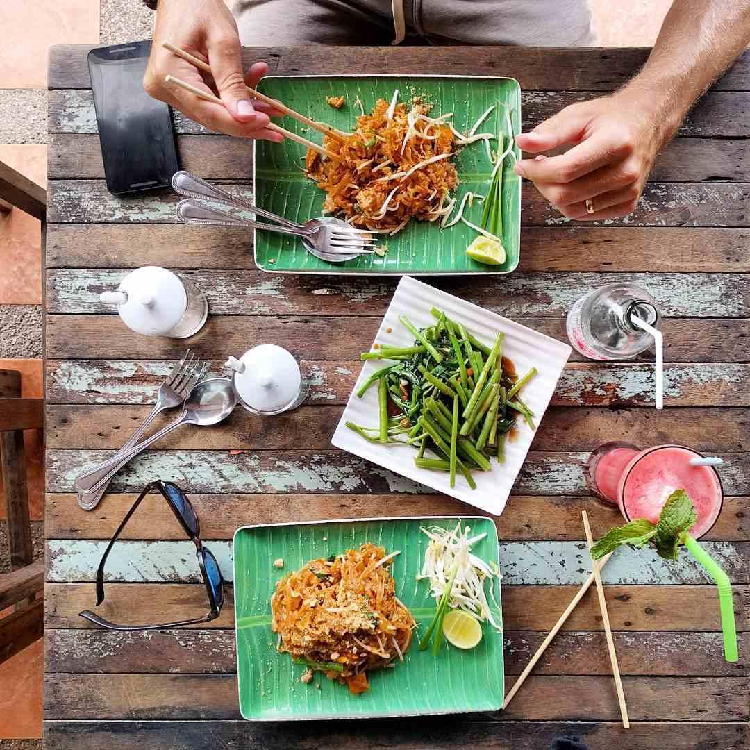 padthai dish at Phad Thai Rock n Roll on Kantiang Bay, one of the best restaurants on Koh Lanta!