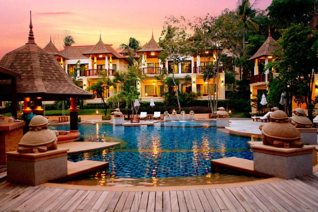 The pool and surrounding rooms of the Avani plus Koh Lanta resort (one of the best luxury resorts on koh lanta)