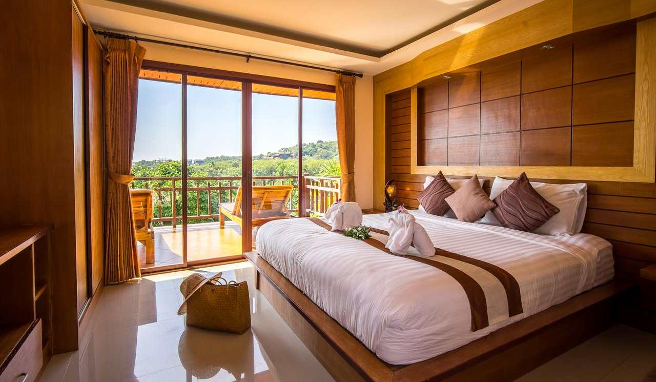 A room at Baan Puteri Lanta (one of the best luxury resorts on Koh Lanta)