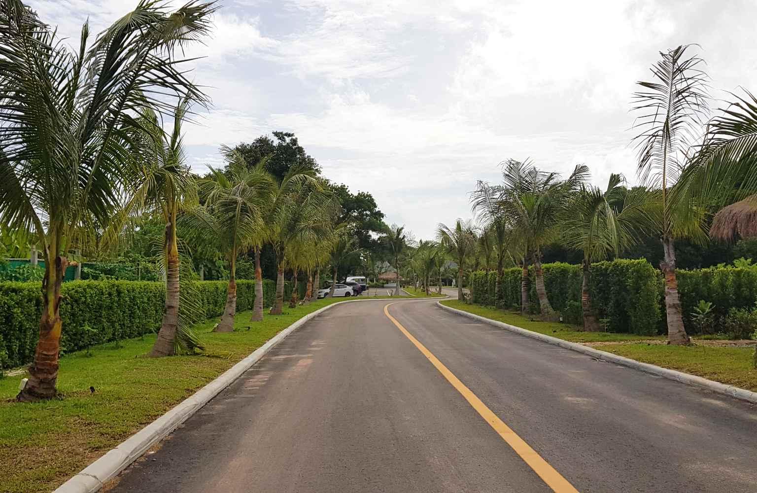 The road from the entrance to Lanta Casa Blanca on Koh Lanta