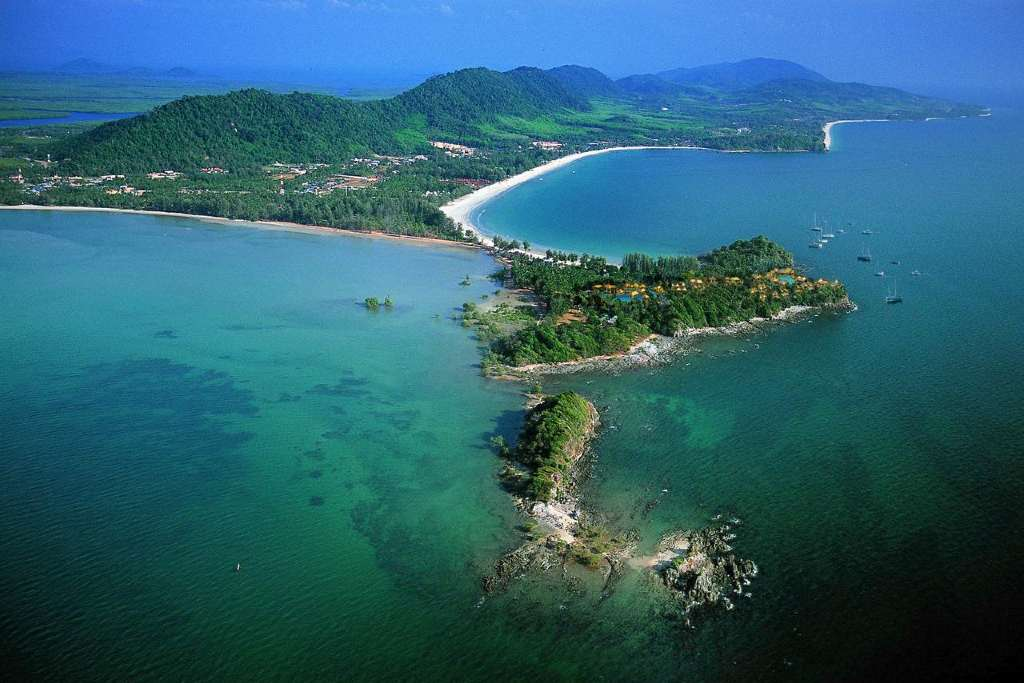 The Avani plus Koh Lanta resort seen from the air (one of the best luxury resorts on koh lanta)