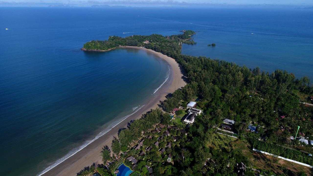 Aerial views of Twin Lotus Resort & Spa, one of the best luxury resorts on Koh Lanta