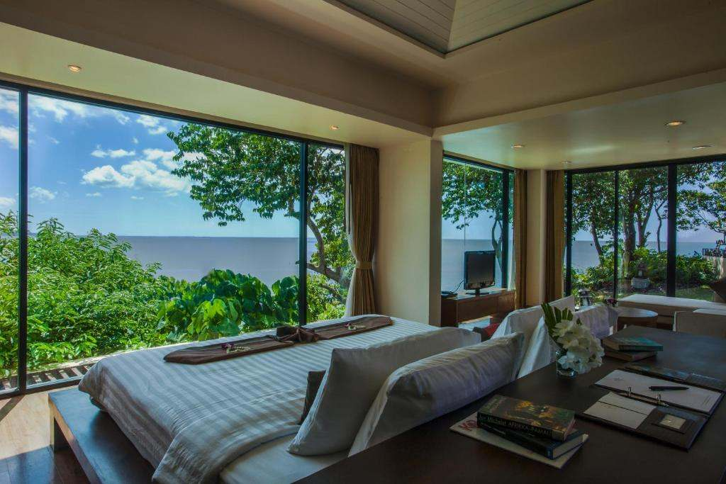 Sea views from a room of the Avani plus Koh Lanta resort (one of the best luxury resorts on koh lanta)