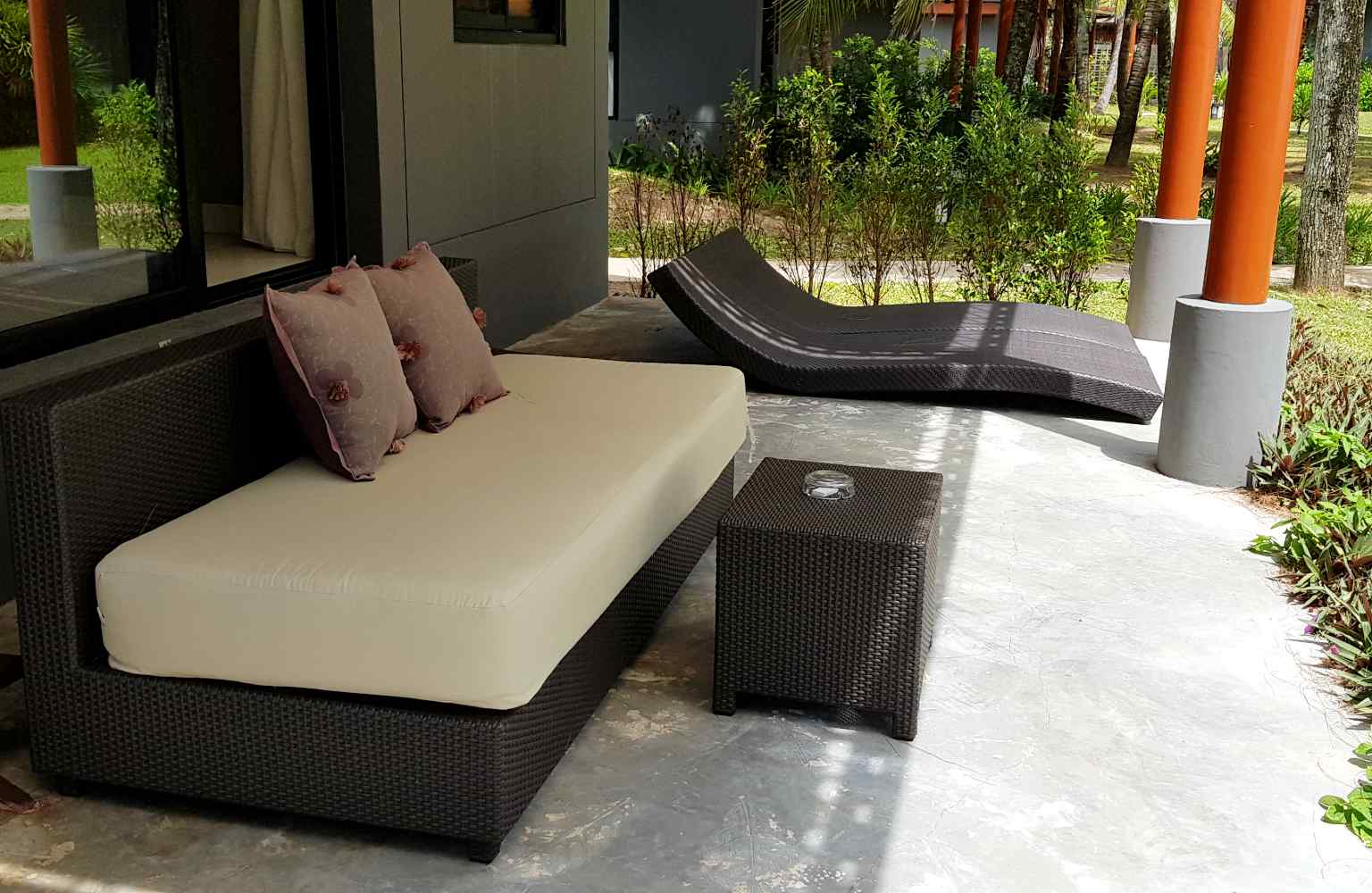Ligbedjes en loungebank Twin Lotus Koh Lanta
