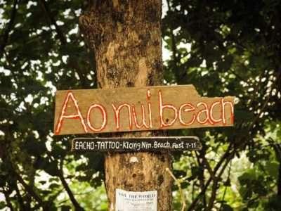Ao Nuis Beach Bord Op Het Strand Van Koh Lanta