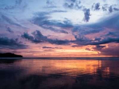 Zonsondergang Gezien Vanaf Klong Dao Beach Op Koh Lanta, Thailand