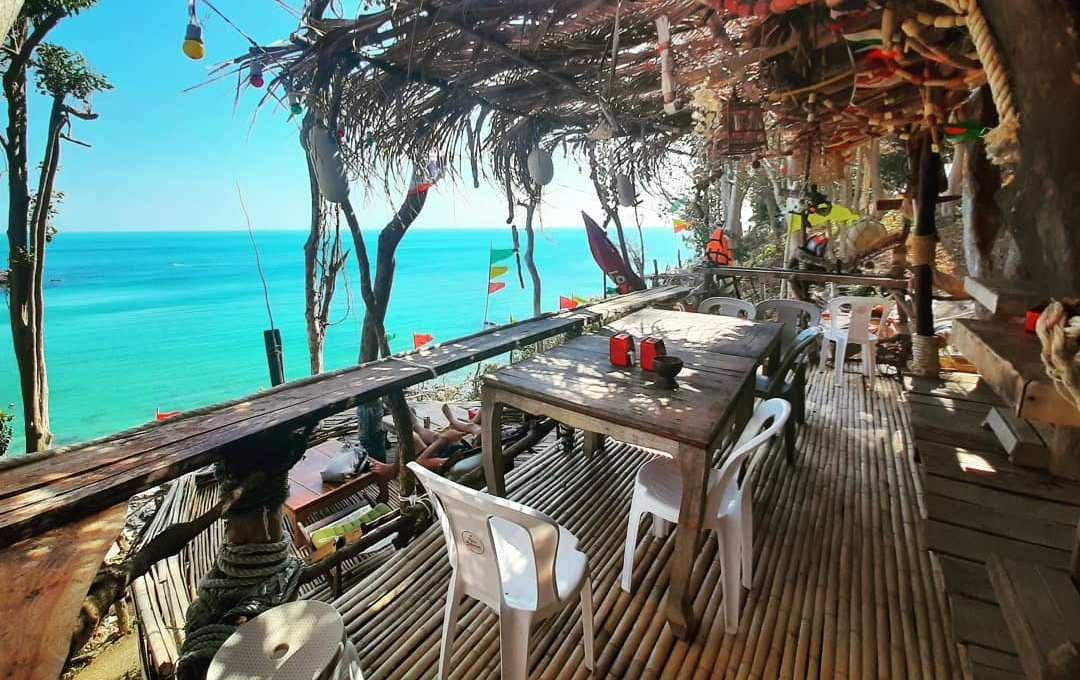 View from Relax Lanta Bar & Restaurant at Ao Nui Beach on Koh Lanta