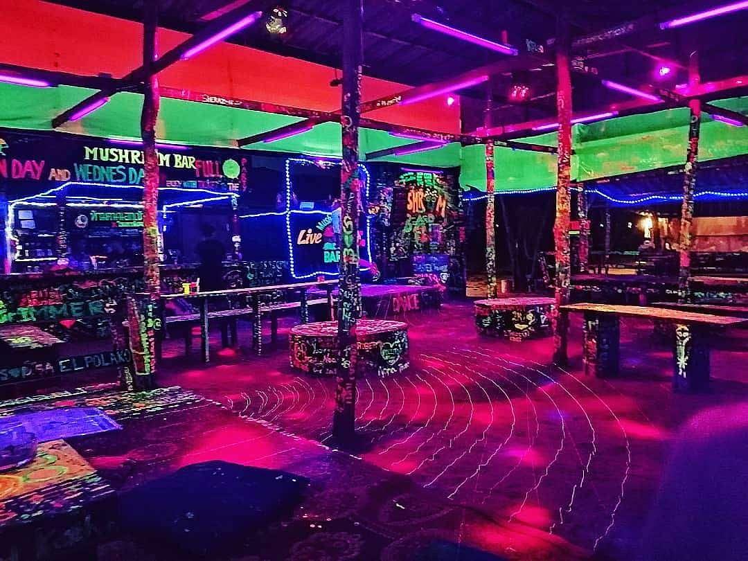 Mushroom Bar Koh lanta neon verf